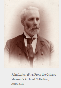 John Larke, 1893; From Oshawa Museum's Archival Collection, A000.1.49